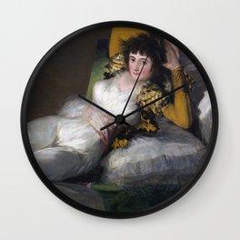 Francisco Goya - The Clothed Maja Wall Clock