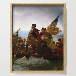 "Emanuel Gottlieb Leutze ""Washington Crossing the Delaware"" Serving Tray"