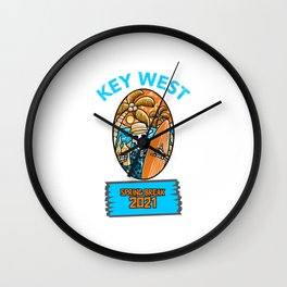 SPRING BREAK 2021 KEY WEST  Wall Clock