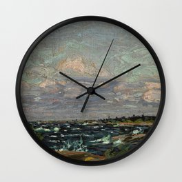 Tom Thomson Windy Day- Rough Weather in the Islands 1914. Canadian Landscape Artist Wall Clock