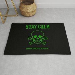 Stay Calm Pirate Flag Rug