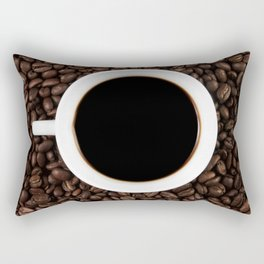 Coffee Cup Rectangular Pillow