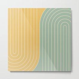 Two Tone Line Curvature XVII  Metal Print