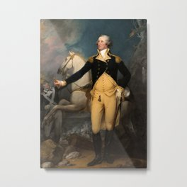 General George Washington at Trenton by John Trumbull (1792) Metal Print