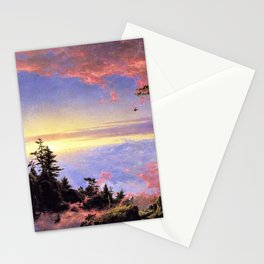 New England - Above the Clouds at Sunrise by Frederic Irwin Church Stationery Cards