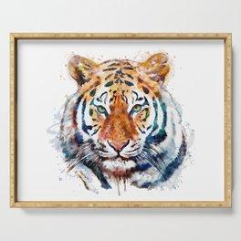 Tiger Head watercolor Serving Tray