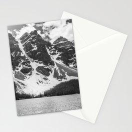 Moraine Lake | Landscape Photography | Black and White Stationery Cards