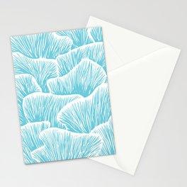 Mushroom Bouquet - Light Blue Stationery Cards