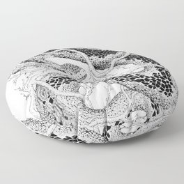 Leaf Adder Floor Pillow