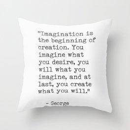Life quotes George Bernard Shaw Throw Pillow