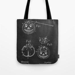 Halloween 1907 Jack O' Lantern Patent Tote Bag