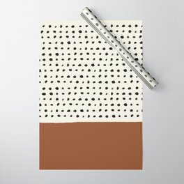 Burnt Orange x Dots Wrapping Paper