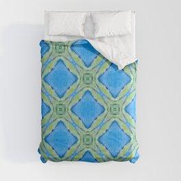 Beach Diamond Pattern — Blue Comforters