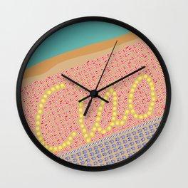 Ciao / Hello Italy Beach Umbrellas - Aerial Italian Wall Clock