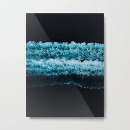 Abstract Dark Blue Ocean Waves  Metal Print