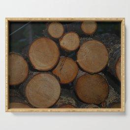 Fresh Cut Firewood Serving Tray