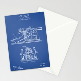 Cannon blue patent Stationery Cards