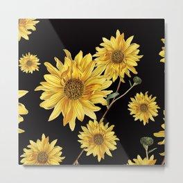 Sunflower Pattern 2 Metal Print