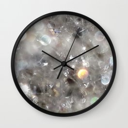 Crystalline connections - Abstract Photography by Fluid Nature Wall Clock