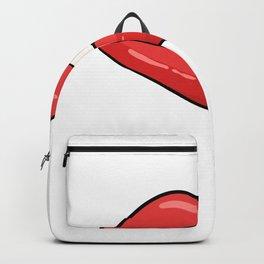 Biting Lips Artist or Painter Gift Backpack