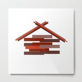 Wooden Hut Metal Print
