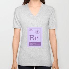 Periodic Elements - 35 Bromine (Br) Unisex V-Neck