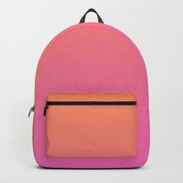 Orange to Pink Ombre Shaded Papaya to  Raspberry Sorbet Ice Cream Gelato Backpack