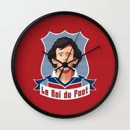 Le Roi du foot Wall Clock