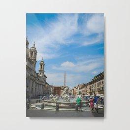 Piazza Navona in Roma Metal Print