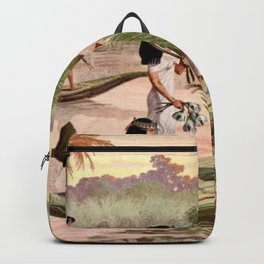 """Classical Masterpiece """"Egyptian Fowlers in Boat on the Nile"""" by Herbert Herget Backpack"""
