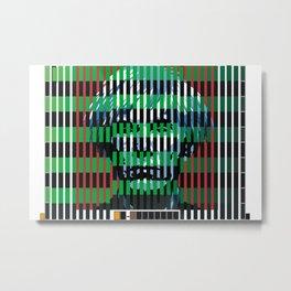 Barcode 007C Metal Print