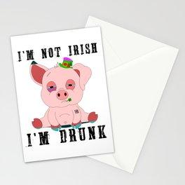 St Patrick's Day I'm Not Irish I'm Drunk Gift Stationery Cards