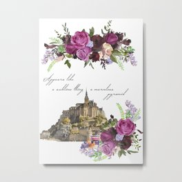 Mont Saint Michel, France Metal Print