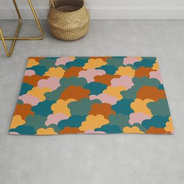 Mixed colorful clouds pattern Rug
