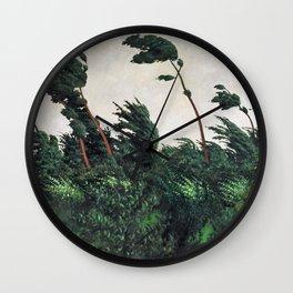 Felix Edouard Vallotton - The Wind - Digital Remastered Edition Wall Clock