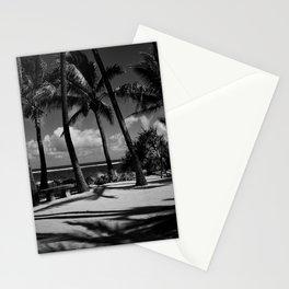 Kuau Beach Palm Trees Paia Maui Hawaii Stationery Cards