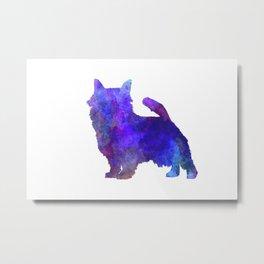 Norwich Terrier in watercolor Metal Print