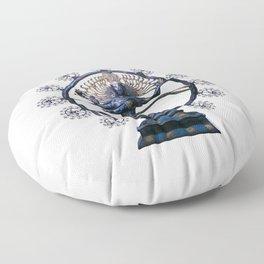 Shiva Nataraj, Lord of Dance (an actual factual fractal) Floor Pillow