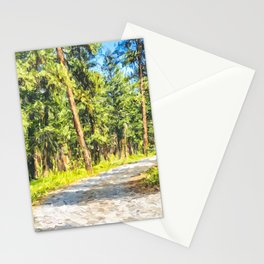 Douglas Fir Trees Washington - Digital Painting Stationery Cards