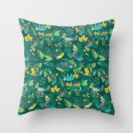 Sumatran Jungle Throw Pillow
