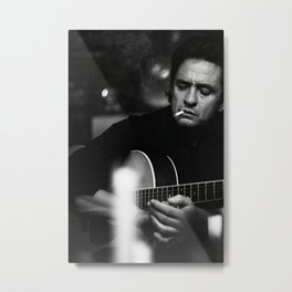 Johnny Cash, Music Print, Country Legend, Vintage photography, gift for him, Johnny Cash print, Johnny Cash poster, Johnny Cash art Metal Print
