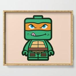Chibi Michelangelo Ninja Turtle Serving Tray