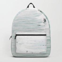 Surfer Waves Costal Ocean Backpack