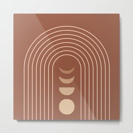 Mid Century Modern Geometric 10 (Moon phases) Metal Print
