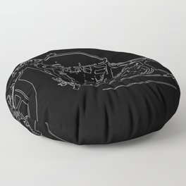 Motor Bike Floor Pillow