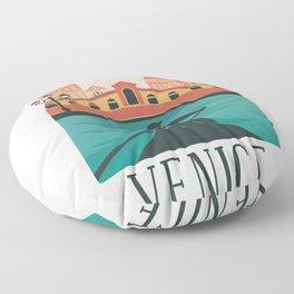 Venice skyline - Italy Floor Pillow