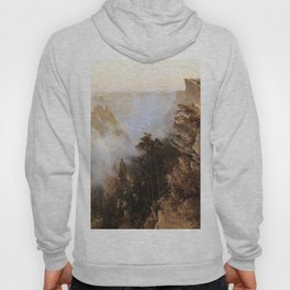 Yosemite Canyon 1894 By Thomas Hill | Reproduction Hoody