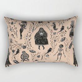 Creatures of the Night (orange) Rectangular Pillow