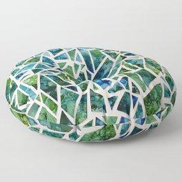 Coastal Mosaic  Floor Pillow