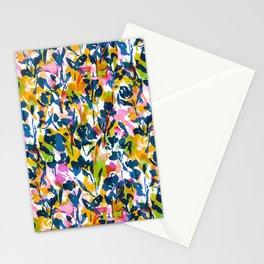 Mazy Beauty Navy Green Orange Stationery Cards